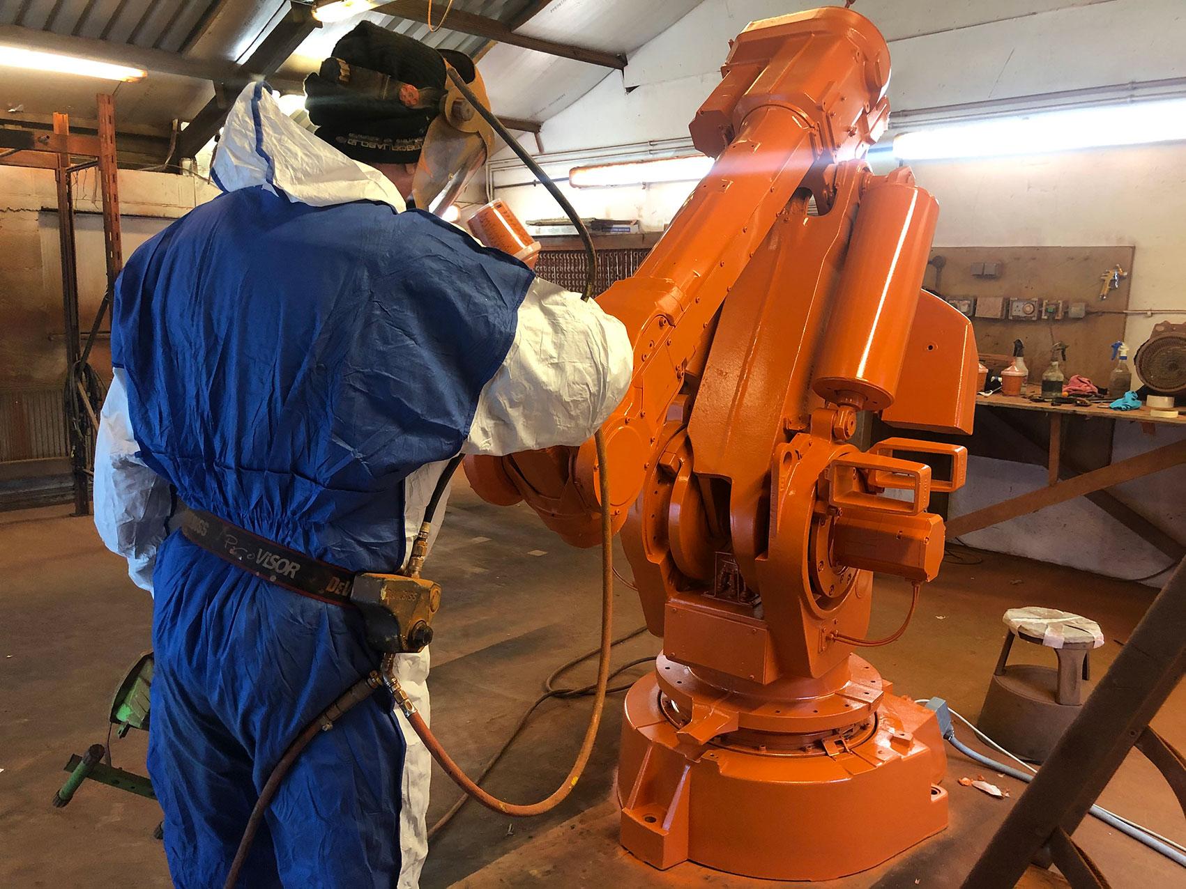 Spray painting robots